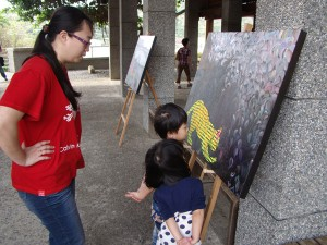 Open studio during Artist in Residence, Taiwan, 2012