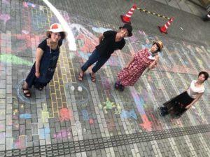 2018 Kofu Machi Festival, drawing big Mt. Fuji with the community